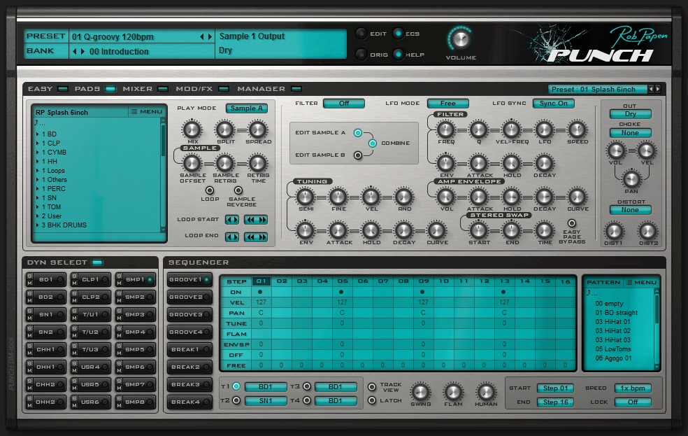 Rob Papen Punch sample pad